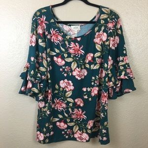 2 for $20 NWOT Perch by Blu Pepper floral top